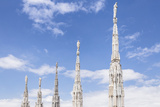 The Roof of Duomo Di Milano (Milan Cathedral)  Milan  Lombardy  Italy  Europe