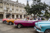 Vintage American Cars Parking Outside the Gran Teatro (Grand Theater)  Havana  Cuba