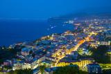 Panoramic View of Sorrento at Night  Sorrento  Amalfi Coast  UNESCO World Heritage Site  Campania
