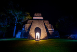 Night Portrait of Pyramid at Tikal  UNESCO World Heritage Site  Guatemala  Central America