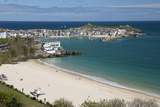 Porthminster Beach and Harbour  St Ives  Cornwall  England  United Kingdom  Europe