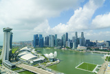 The Towers of the Central Business District and Marina Bay in the Morning  Singapore