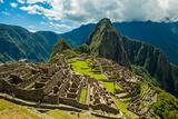 View of Huayna Picchu and Machu Picchu Ruins  UNESCO World Heritage Site  Peru  South America