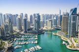 High View of Dubai Marina  Dubai  United Arab Emirates  Middle East