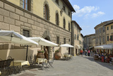 Shops and Restaurants  Via Ferruccio  Castellina in Chianti  Siena Province  Tuscany  Italy  Europe
