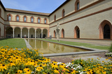 Garden in the Ducal Courtyard  Sforzesco Castle (Castello Sforzesco)  Milan  Lombardy  Italy