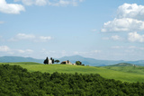 The Chapel of Our Lady of Vitaleta  Val D'Orcia  UNESCO World Heritage Site  Tuscany  Italy  Europe