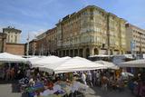Street Market  Via Irnerio  Bologna  Emilia-Romagna  Italy  Europe