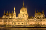 Main Part of Hungarian Parliament on Warm Summer Night  Budapest  Hungary  Europe