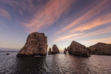 Sunrise over Land's End  Finnisterra  Cabo San Lucas  Baja California Sur  Mexico  North America