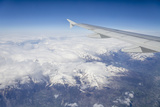 The Alps from a Commercial Flight  France  Europe