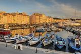 Warm Evening Sunlight Illuminating the Port of Saint Tropez  Var  Provence