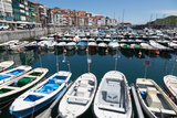 Traditional Fishing Boats Moored in the Harbour in Lekeitio  Basque Country (Euskadi)  Spain