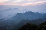 View from Mount Zwegabin at Sunrise  Hpa An  Kayin State (Karen State)  Myanmar (Burma)  Asia