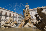 Fountain of Diana on the Tiny Island of Ortygia  UNESCO World Heritage Site  Syracuse