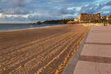 The Sandy Beach and Promenade in Biarritz  Pyrenees Atlantiques  Aquitaine  France  Europe