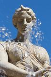 Fountain of Diana on the Tiny Island of Ortygia  Syracuse  Sicily  Italy  Europe