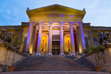 Entrance to Teatro Massimo at Night  One of the Largest Opera Houses in Europe  Palermo