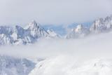 Aletsch Glacier Seen from Betterhorn Surrounded by Snow  Bettmeralp  District of Raron