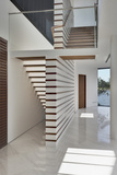 Entrance Hallway and Staircase in Modern Residential House in Sentosa Island  Singapore  Asia