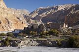 Nepal  Mustang  Chusang the Old Fort at Chusang  Deep in the Kali Gandaki Gorge