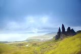 Uk  Scotland  Inner Hebrides  Isle of Skye the Old Man of Storr in Dramatic Weather