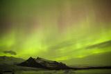 Iceland  Fjallsarlon the Northern Lights Appearing in the Sky at Fjallsarlonll