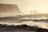 Iceland  Reynisfjara Waves Breaking on Reynisfjara Beach