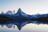 Europe  Switzerland  Valais  Zermatt  Matterhorn (4478M)  Stellisee Lake