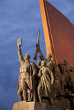 North Korea  Pyongyang the Socialist Revolution Stone Monument Lined with 228 Bronze Figures