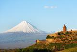 Eurasia  Caucasus Region  Armenia  Khor Virap Monastery; Lesser Ararat Near Mount Ararat in Turkey