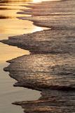 Waves Breaking at Sunset on Main Beach  Noosa  Sunshine Coast  Queensland  Australia