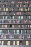 Abstract Exterior Facade of Student Residential High-Rise De Uithof Campus Netherlands