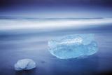 Iceland  Jokulsarlon Frozen Icebergs Washed Up on the Black Beach at Jokulsarlon