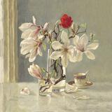 Magnolia and Red Tulip