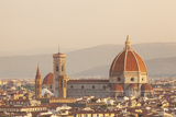 Italy  Tuscany  Florence Overview of the City with Brunelleschi Cupola on the Duomo Unesco
