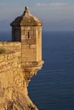 Lookout Tower of Santa Barbara Castel Overlooking the Bay of Alicante  Costa Brava  Alicante