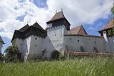 Romania  Transylvania  Viscri the Fortified Saxon Church in the Village of Viscri