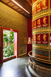 The Vairocana Bhudda Prayer Wheel Detail in Buddha Tooth Relic Temple and Museum  South Bridge Road