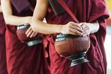 South East Asia  Myanmar  Bago  Kha Khat Wain Kyaung Monastery  Meal Time
