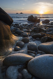 Rocky Beach at Porth Naven  Land's End Cornwall  England