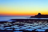 Mediterranean Europe  Malta  Gozo Island  Salt Pans at Sunrise  Xwejni Bay