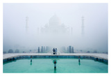 Misty Taj Mahal