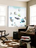 Les jours heureux Toile Murale Géante par Ingrid Beddoes