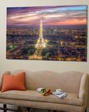 The sparkling lights of the Eiffel Tower Toile Murale Géante par Nick Jackson