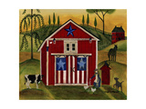 Sunrise Red White Blue Barn Lang