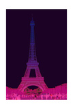 Magenta Eiffel Tower