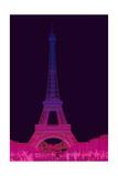 Magenta Eiffel Tower