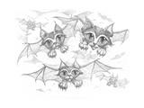 Bat Cats Pencil
