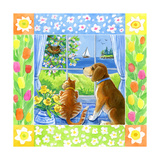 Spring Cat and Dog